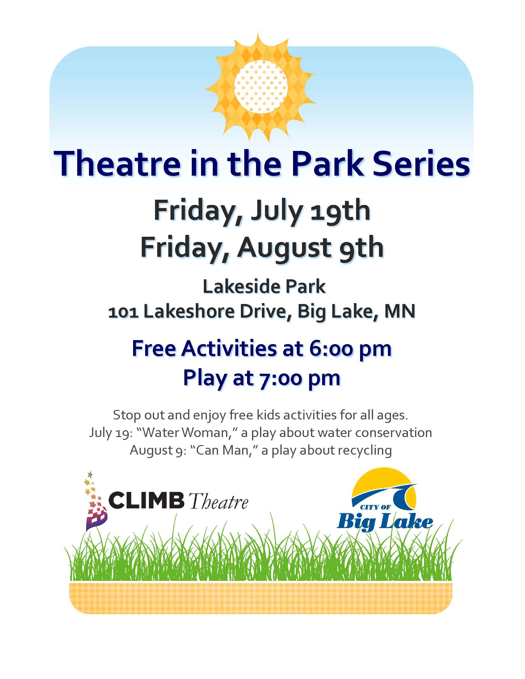 Theatre in the Park Series 2019