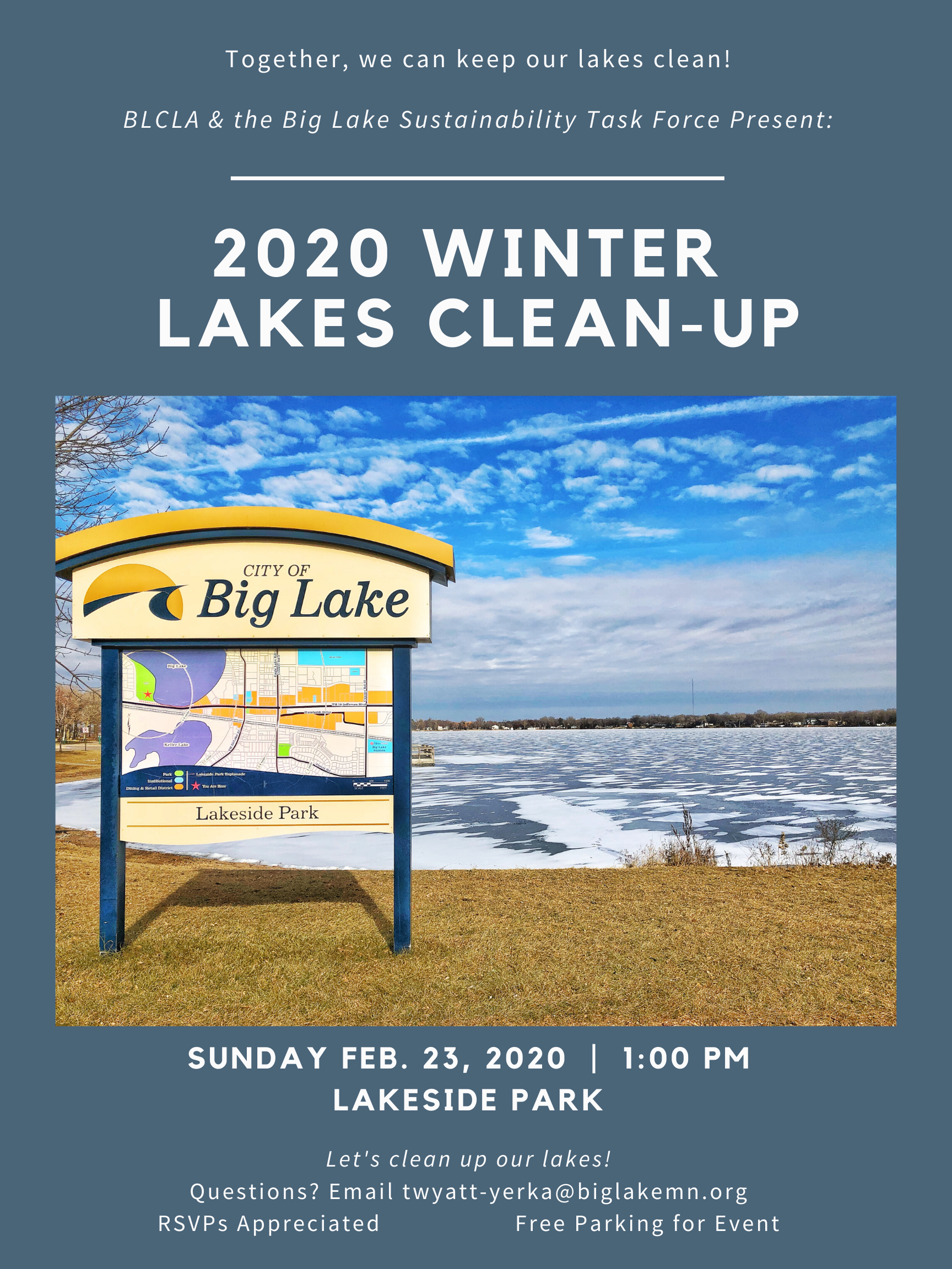 2020 WINTER lakes clean-up