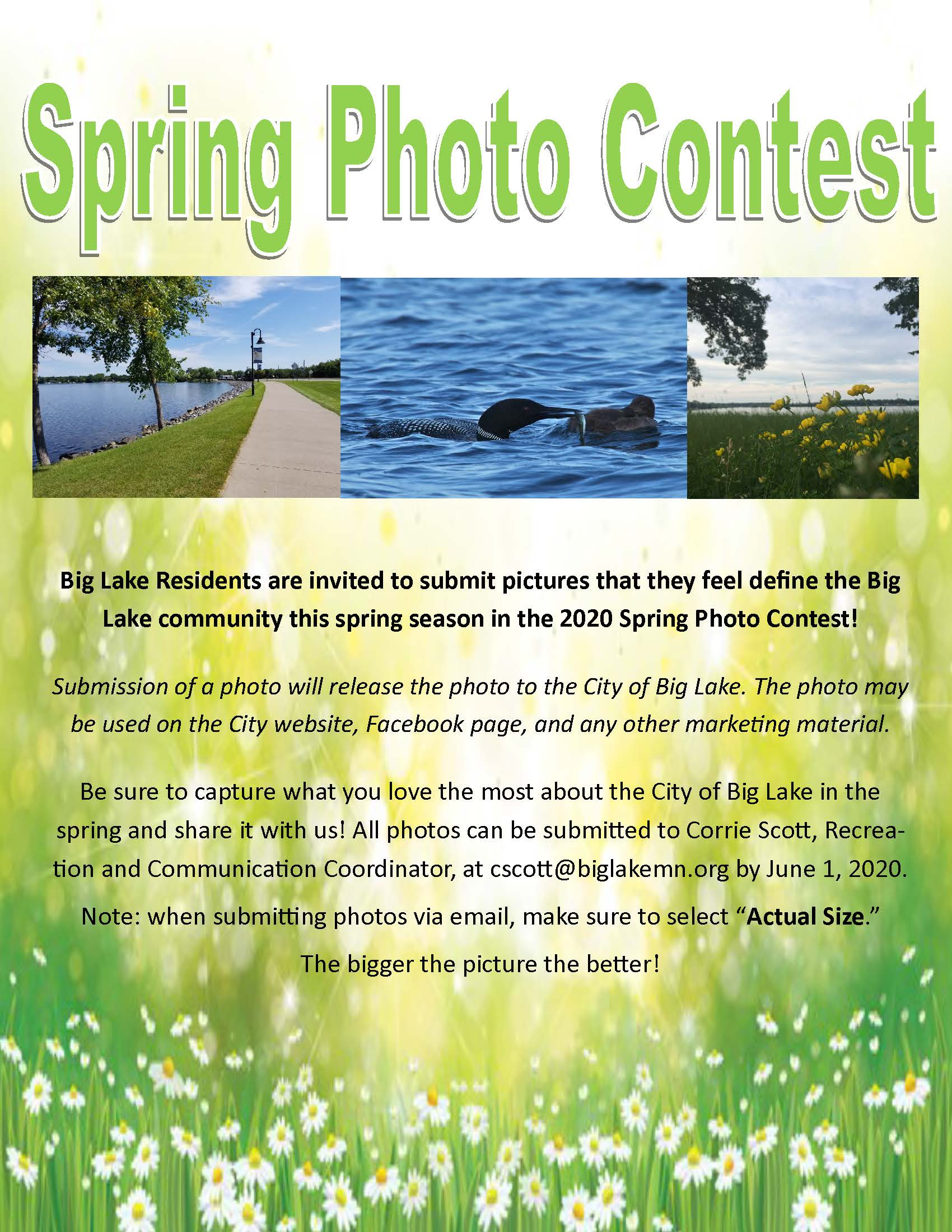 Spring Photo Contest Flyer