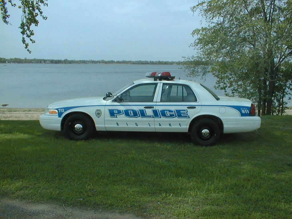 Police Car by a Lake 3