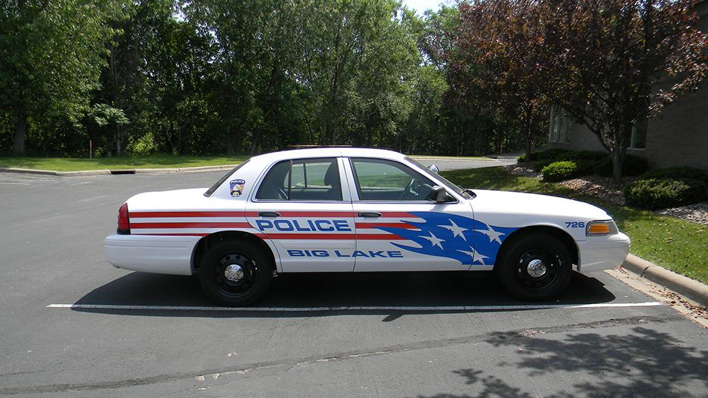 Police Car by a Lake 4