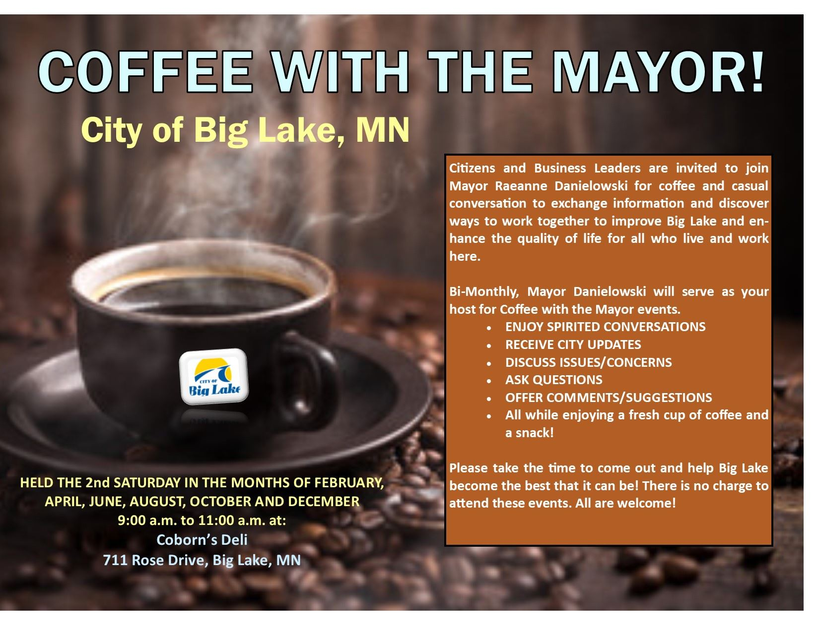 Coffee with the Mayor Flyer 2018