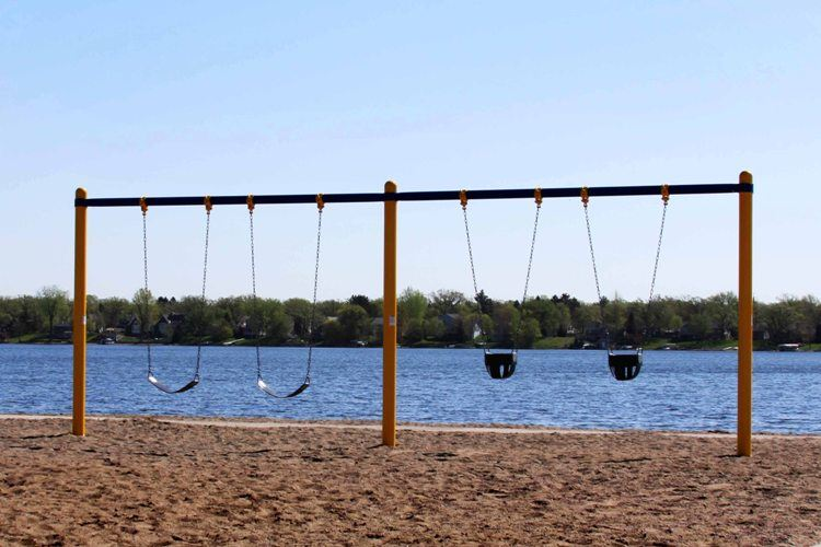 Lakeside Park Swings by the Lake