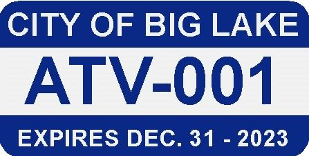 City of big lake ATV Lic