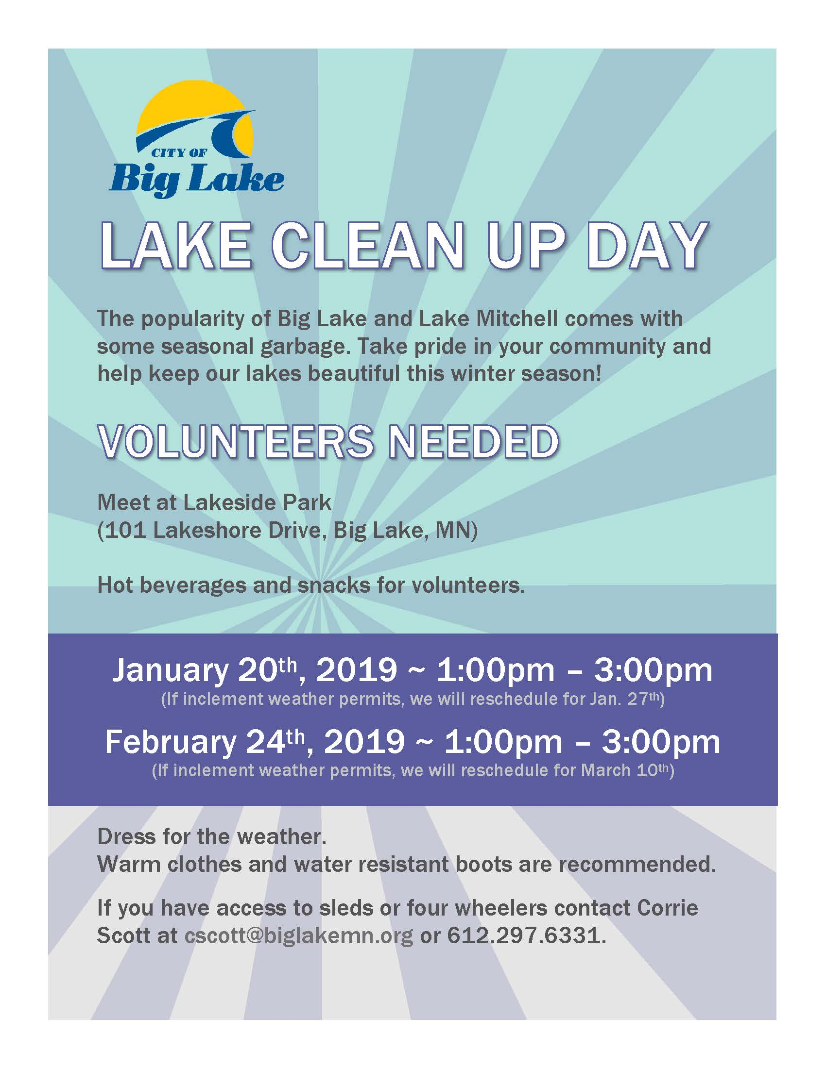 Lake Clean Up Flyer