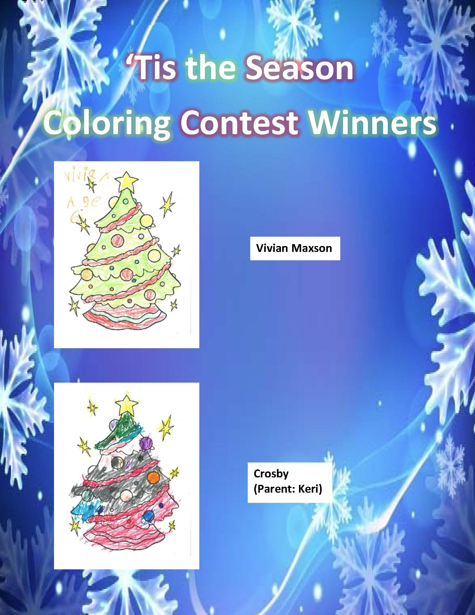 Coloring Contest Winner Flyer
