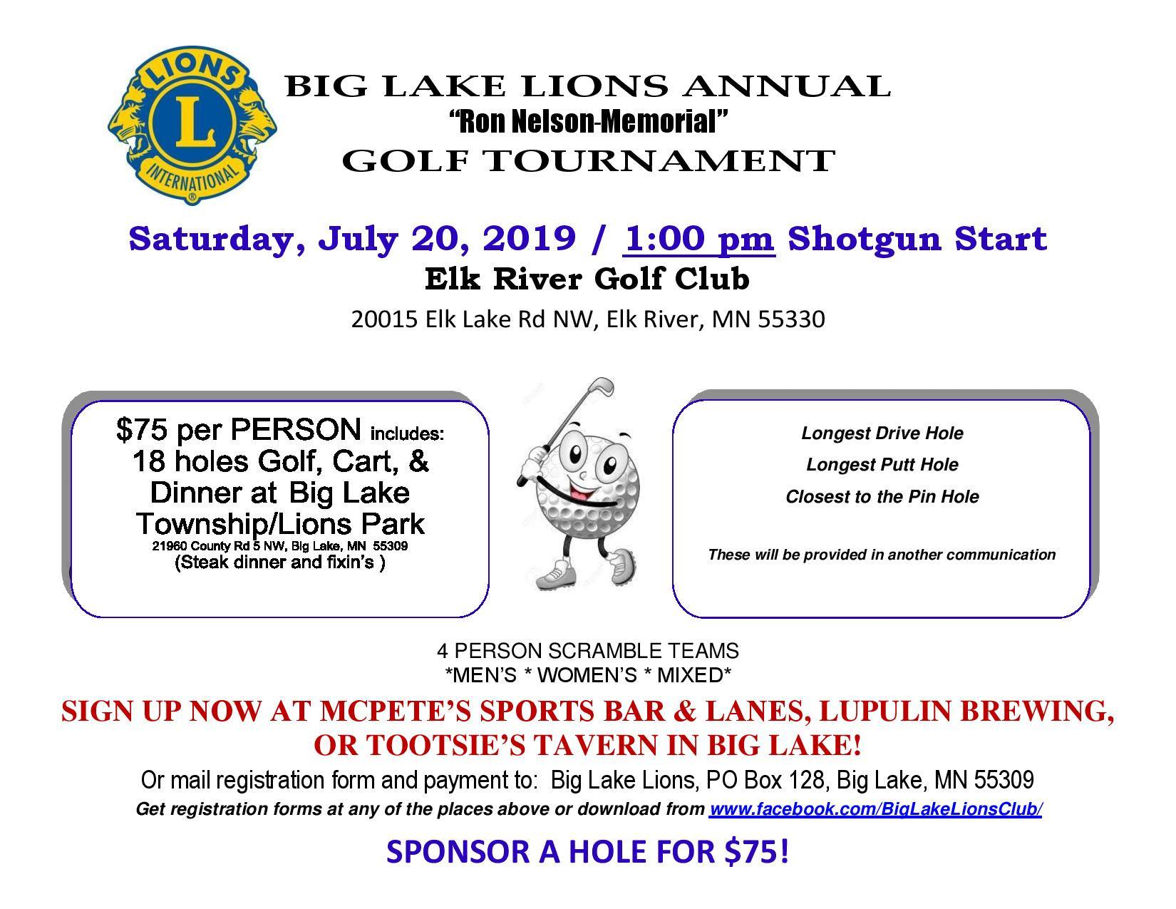 Lions Golf Tournament 2019