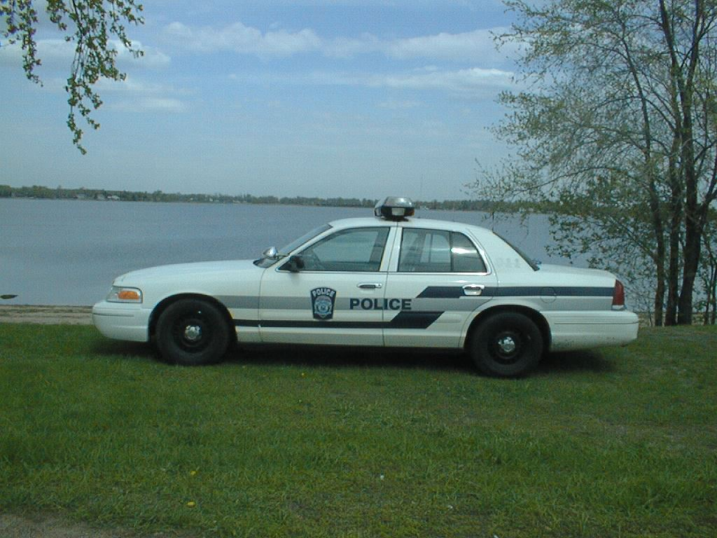 Police Car by a Lake 2